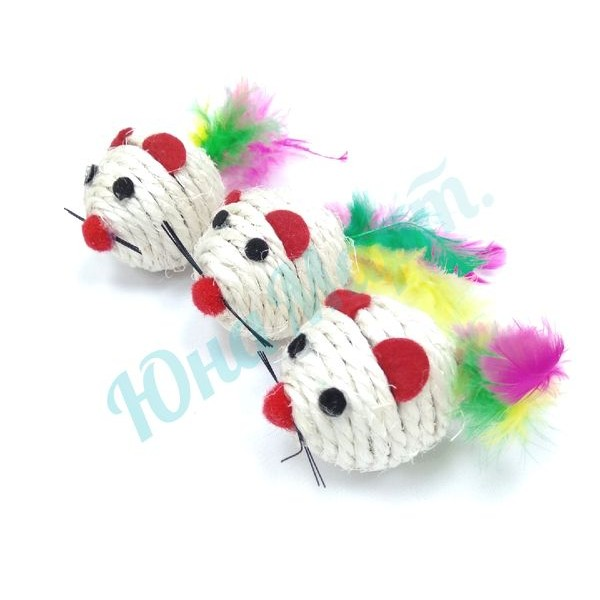 Игрушка Мышки с пёрышками
